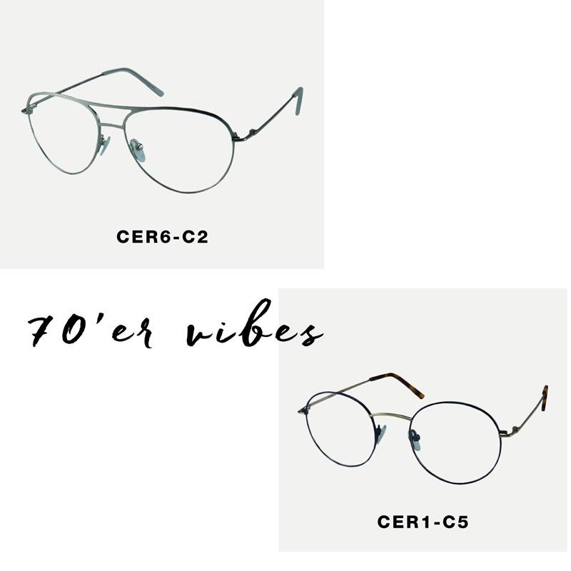 crosseyes rusk 70'er briller retro stil metal stel