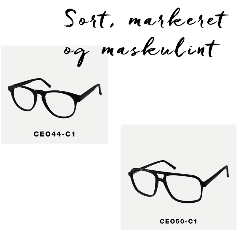 crosseyes sorte briller markerede herre oversize maskuline