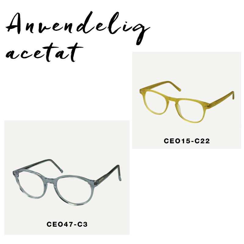 crosseyes original acetat briller transparent gul