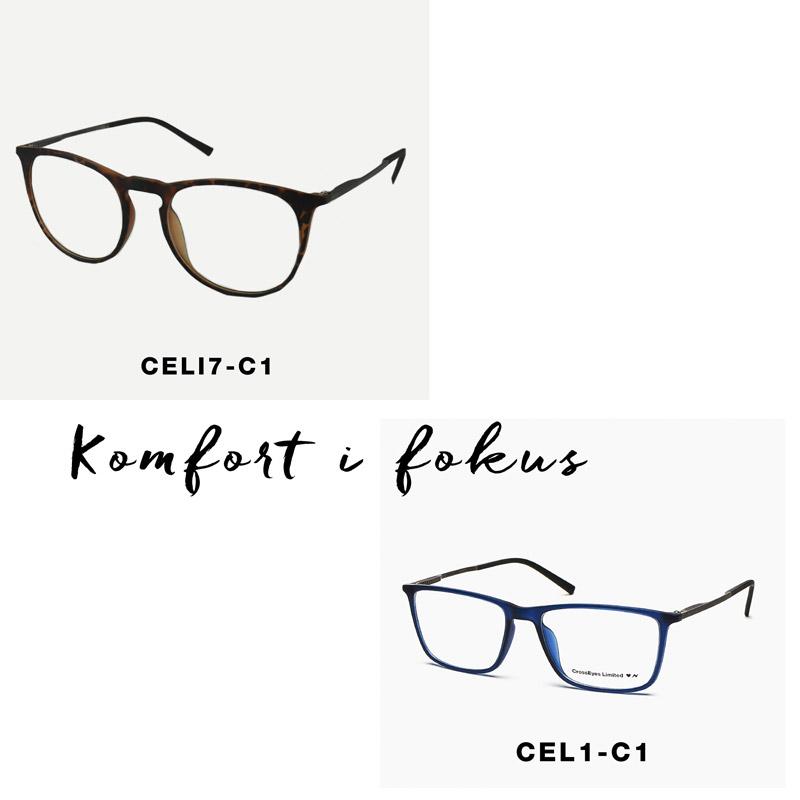 crosseyes light spring hinge lette komfortable briller skildpadde blå stel